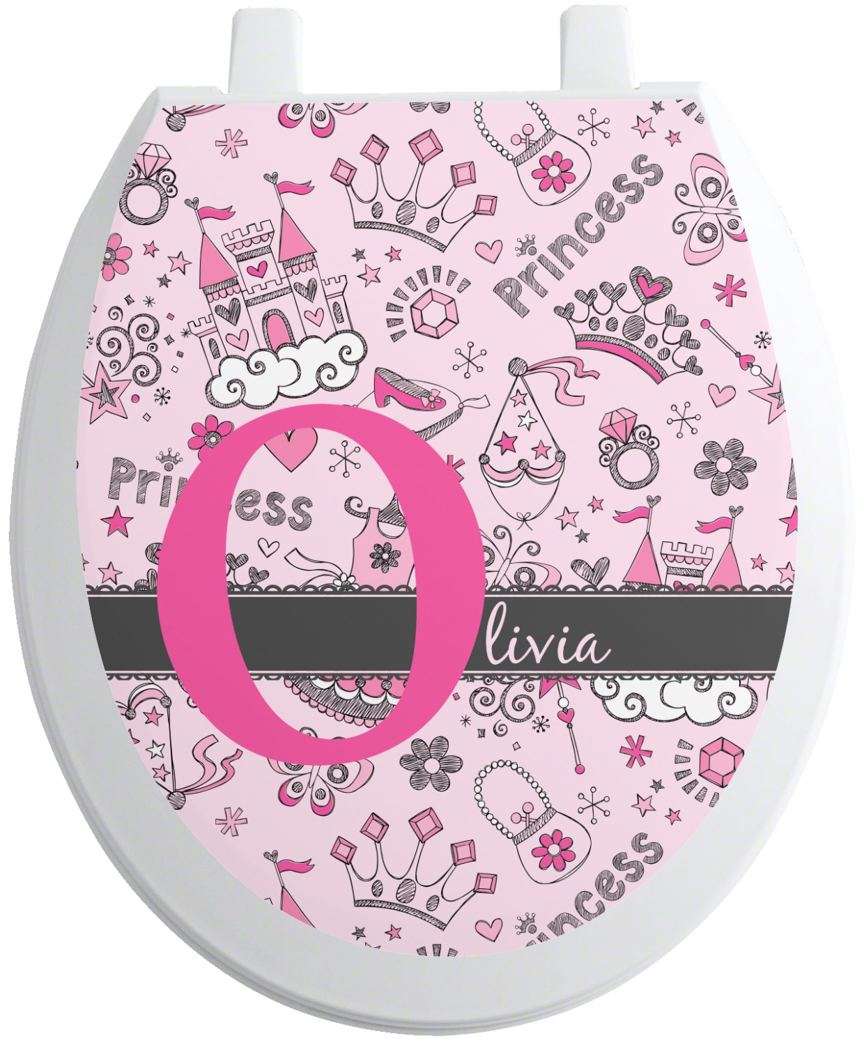 princess toilet seat decal  personalized