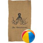 Octopus & Burlap Print Beach Towel (Personalized)