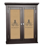 Octopus & Burlap Print Cabinet Decal - Custom Size (Personalized)