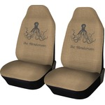 Octopus & Burlap Print Car Seat Covers (Set of Two) (Personalized)