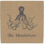 Octopus & Burlap Print Ceramic Tile Hot Pad (Personalized)
