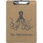 Octopus & Burlap Print Clipboard (Personalized)