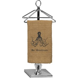 Octopus & Burlap Print Finger Tip Towel - Full Print (Personalized)