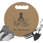 Octopus & Burlap Print Gardening Knee Cushion (Personalized)