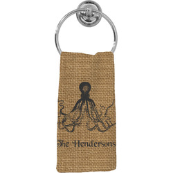 Octopus & Burlap Print Hand Towel - Full Print (Personalized)