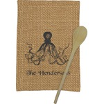 Octopus & Burlap Print Kitchen Towel - Full Print (Personalized)