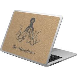 Octopus & Burlap Print Laptop Skin - Custom Sized (Personalized)