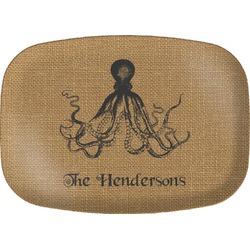 Octopus & Burlap Print Melamine Platter (Personalized)