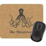Octopus & Burlap Print Mouse Pads (Personalized)