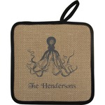 Octopus & Burlap Print Pot Holder (Personalized)