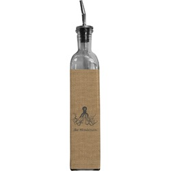 Octopus & Burlap Print Oil Dispenser Bottle (Personalized)