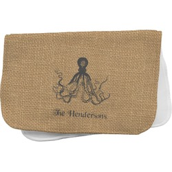 Octopus & Burlap Print Burp Cloth (Personalized)