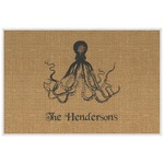 Octopus & Burlap Print Placemat (Laminated) (Personalized)