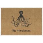 Octopus & Burlap Print Laminated Placemat w/ Name or Text