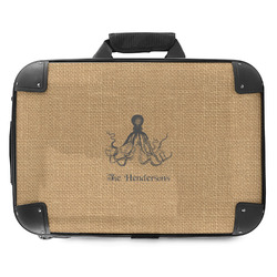 Octopus & Burlap Print Hard Shell Briefcase (Personalized)