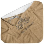 Octopus & Burlap Print Baby Hooded Towel (Personalized)