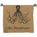Octopus & Burlap Print Full Print Bath Towel (Personalized)