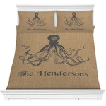 Octopus & Burlap Print Comforter Set (Personalized)