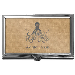 Octopus & Burlap Print Business Card Case