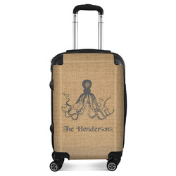 Octopus & Burlap Print Suitcase (Personalized)
