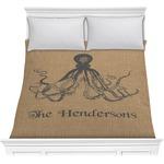 Octopus & Burlap Print Comforter (Personalized)