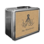 Octopus & Burlap Print Lunch Box (Personalized)