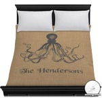 Octopus & Burlap Print Duvet Cover (Personalized)