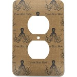 Octopus & Burlap Print Electric Outlet Plate (Personalized)