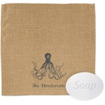 Octopus & Burlap Print Wash Cloth (Personalized)