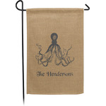 Octopus & Burlap Print Garden Flag - Single or Double Sided (Personalized)