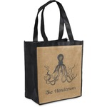 Octopus & Burlap Print Grocery Bag (Personalized)