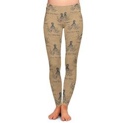 Octopus & Burlap Print Ladies Leggings - Medium (Personalized)