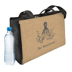 Octopus & Burlap Print Ladies Workout Bag (Personalized)