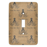 Octopus & Burlap Print Light Switch Covers - Multiple Toggle Options Available (Personalized)