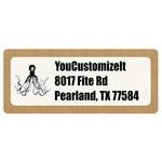 Octopus & Burlap Print Return Address Labels (Personalized)