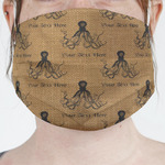Octopus & Burlap Print Face Mask Cover (Personalized)