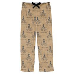 Octopus & Burlap Print Mens Pajama Pants (Personalized)