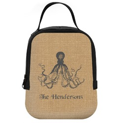 Octopus & Burlap Print Neoprene Lunch Tote (Personalized)