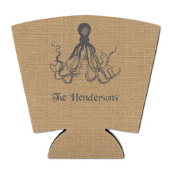 Octopus & Burlap Print Party Cup Sleeve (Personalized)
