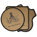 Octopus & Burlap Print Iron on Patches (Personalized)