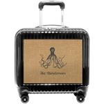Octopus & Burlap Print Pilot / Flight Suitcase (Personalized)