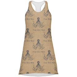 Octopus & Burlap Print Racerback Dress (Personalized)