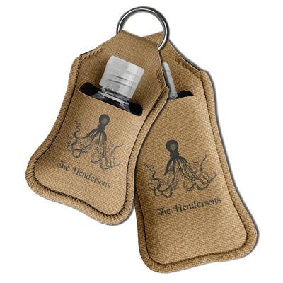 Octopus & Burlap Print Hand Sanitizer & Keychain Holder (Personalized)