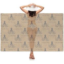 Octopus & Burlap Print Sheer Sarong (Personalized)