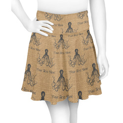 Octopus & Burlap Print Skater Skirt (Personalized)