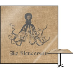 Octopus & Burlap Print Square Table Top (Personalized)