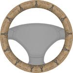 Octopus & Burlap Print Steering Wheel Cover (Personalized)