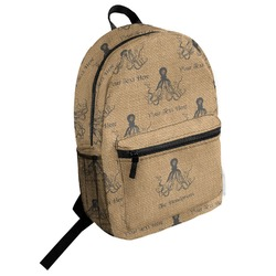 Octopus & Burlap Print Student Backpack (Personalized)
