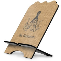 Octopus & Burlap Print Stylized Tablet Stand (Personalized)