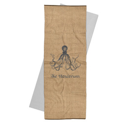 Octopus & Burlap Print Yoga Mat Towel (Personalized)